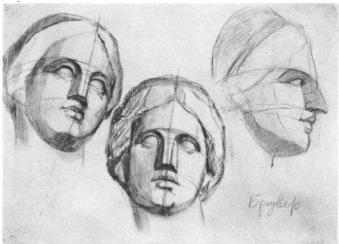 Учебный рисунок голов