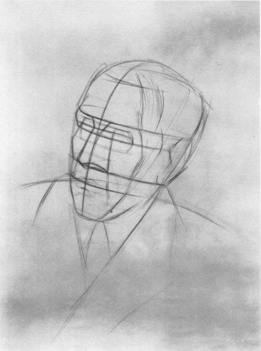 работы над рисунком головы