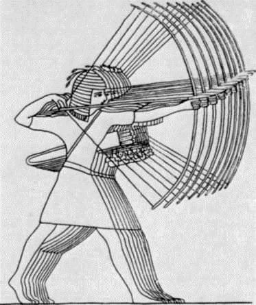 Стрелки. Рисунок с древнеегипетского рельефа