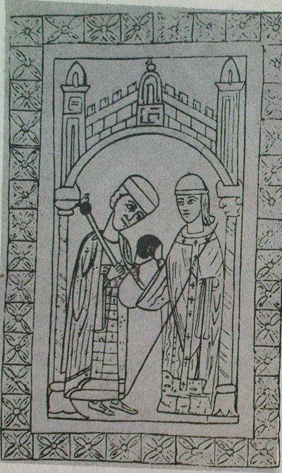 Папа Пасхалий II вручает Генриху V царскую утварь