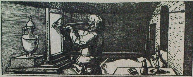 А. Дюрер. Перспективное рисование 1